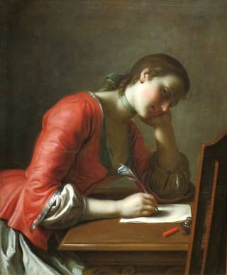 Young Girl Writing a Love Letter by Pietro Antonio Rotari, Norton Simon Museum